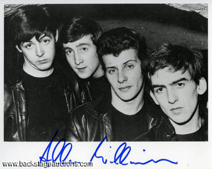 Allan Williams - Signed Beatles Photo