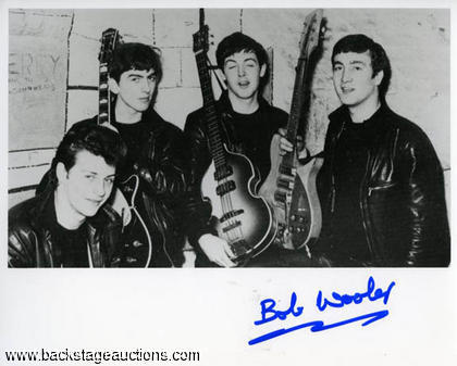 Bob Wooler - Signed Beatles Photo