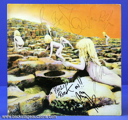 "Led Zeppelin 1973 Fully Signed ""Houses of The Holy"" Album"