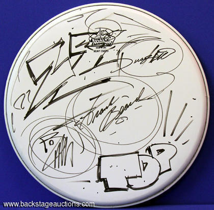 ZZ Top Fully Signed Ludwig Drum Head