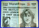 Beatles John Lennon 1980 Historic Newspaper & Magazine Lot