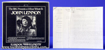 1982 John Lennon 5-LP Radio Broadcast Box Set