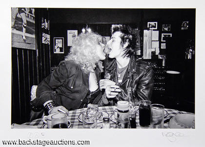 "1978 Sex Pistols ""Sid & Nancy In London"" - Richard Mann Signed & Numbered 6/100 Ltd. Ed. Print"