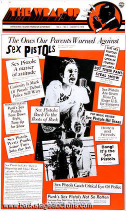 Sex Pistols 1978 Warner Bros. Promo Poster