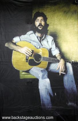 Eric Clapton 1970s Silkscreen JUMBO Wall Banner