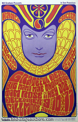 Grateful Dead 1966 Fillmore West BG-41 Original Poster