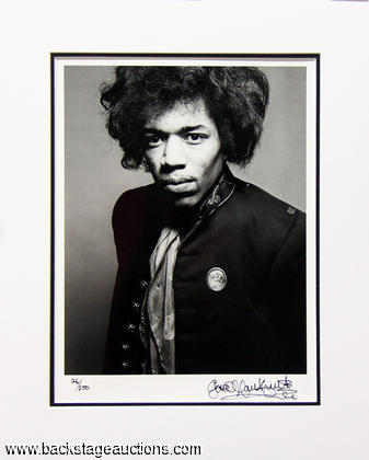 1967 Jimi Hendrix - Gered Mankowitch Signed Ltd. Ed. Photo