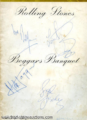 "Rolling Stones 1997 Signed ""Beggars Banquet"" Songbook"