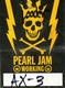 1307: Pearl Jam Mike McCready Concert Used Guitar Pick & Backstage Pass