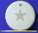 1056: The Beatles Ringo Starr Exclusive 'Star Design' drumhead & Rehearsal Used Drum Stick