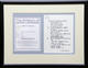 1030: The Beatles John Lennon 1995 'Bungalow Bill' Framed Bag One Arts Lyric Sheet w/ COA