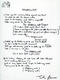 1036: The Beatles John Lennon 1995 'Stepping Out' Bag One Arts Lyric Sheet