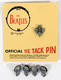 1098: The Beatles 1964 NEMS Tie Tacks Group & Individual Set