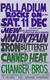 Mountain / Canned Heat 1982 Original Concert Poster Hollywood Palladium, Hollywood, CA