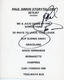 Paul Simon 1997 VH1 Storytellers Signed Set List