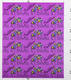 Santana 1984 Tour Original Uncut Sheet of Otto Stick-On Backstage Passes