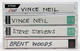 Motley Crue Vince Neil Band 1993 - 1995 Lot of 4 Original Japan Media Interview Cassettes
