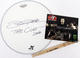 The Cult John Tempesta Signed 18 Remo Drum Head, Sticks & Photo