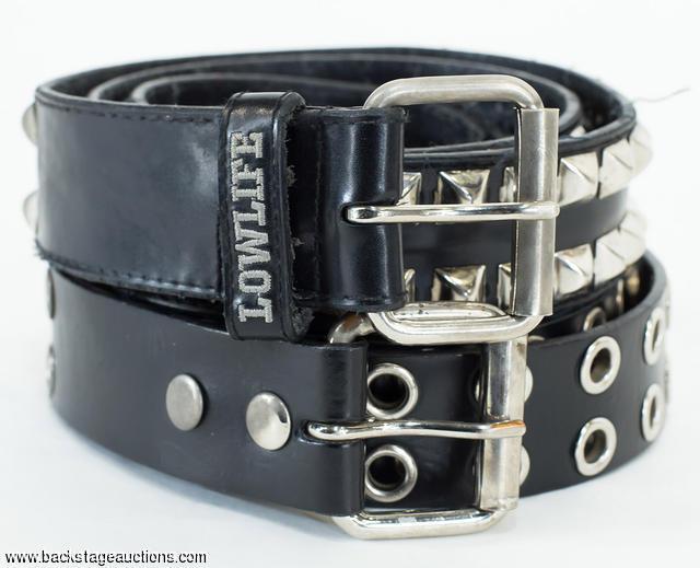 1016 paul gray slipknot concert used leather belts