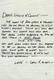 1015: Leon Russell 1970s Handwritten Note To Willie Nelson