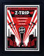 Z-Trip Shepard Fairey Signed & Framed 2009 European Invasion A/P Tour Print