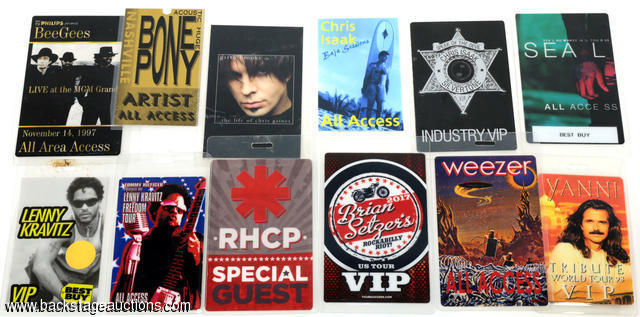 Pop Various Artist 1997 - 2017 Lot of 12 Laminated Backstage