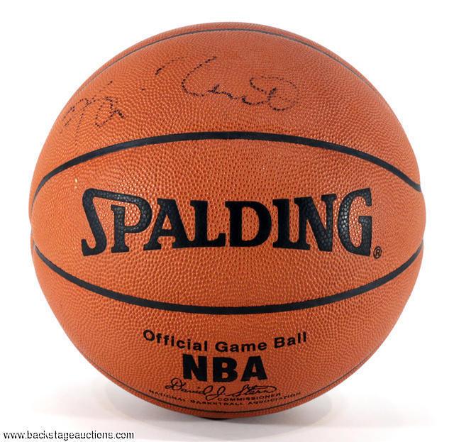 best service 9ba05 210c4 Kevin Garnett Signed Spalding Official NBA Game Basketball ...