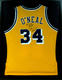 Shaquille O`Neal Signed & Personalized Framed Los Angeles Lakers #34 Game Jersey