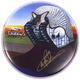 1122: ELP Carl Palmer 14 Commemorative Tarkus Remo Autographed Drum Head