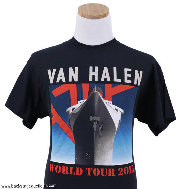 f869be0ecb7 Van Halen 2015 Lot of 2 Official Concert Tour T-Shirts - Store - Backstage  Auctions