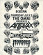 Anthrax Metal Church 1987 Original Omni East Bay Area Thrash-Metal Concert Handbill