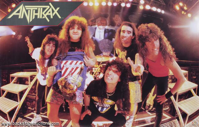 Anthrax Band Backstage 1988 Original Rare Poster 22x34