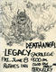 Death Angel Legacy 6-1984 Original Ruthie's Inn East Bay Area Thrash-Metal Concert Handbill