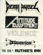 Death Angel Vio-Lence 2-1986 Original East Bay Area Thrash-Metal Concert Handbill