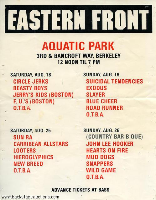 Eastern Front Festival 1984 Slayer Exodus East Bay Area