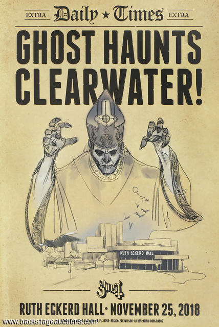 Ghost 2018 Clearwater, FL Original Concert Poster - Store