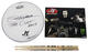 The Cult John Tempesta Signed 11 Inch Drum Head, Used Drum Sticks & Photo Lot