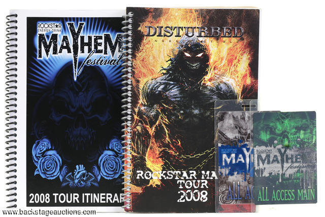 Disturbed 2008 Rockstar Mayhem Festival Tour Itineraries & Laminated