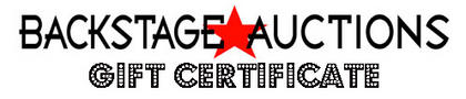 Backstage Auctions Gift Certificate