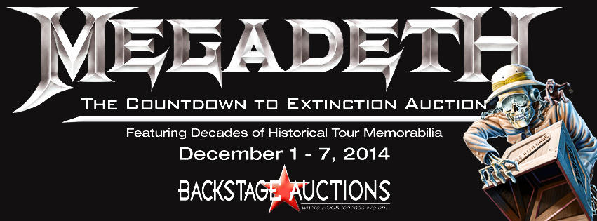 Megadeth - The Countdown To Extinction Auction