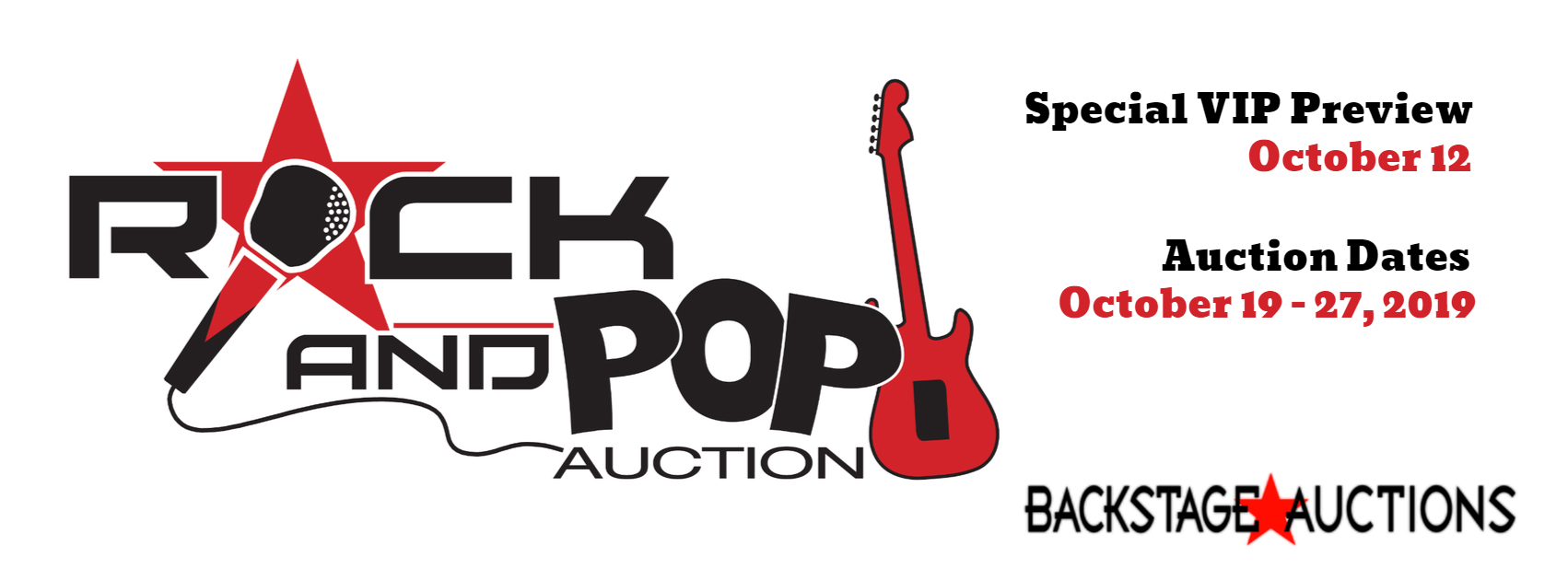 The Rock and Pop 2019 Auction